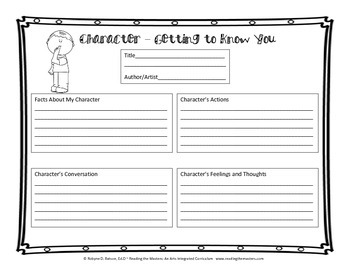 Character - Getting to Know You
