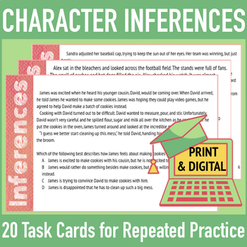 Character Inferences: Mini-Passages with Character Analysi