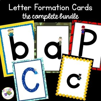 Character Alphabet and Handwriting Cards {Heroes & Princesses}