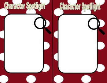 Character Map Strategy: Character Spotlight Flipbook