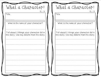 Character Response Sheet- RL1.3