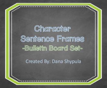 Character Sentence Frames for Learning Conversations