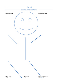 Character Sketch Graphic Organizer