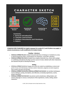 Character Sketch (Literature Analysis and Creative Writing