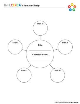 Character Study Web- Graphic Organizer
