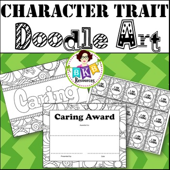 Character Trait - Caring - Doodle Coloring