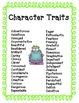 Character Trait Monsters  - Common Core Aligned