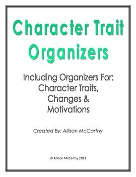 Character Trait Organizers
