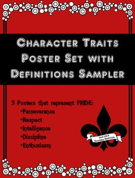 Character Trait PRIDE Poster Sampler