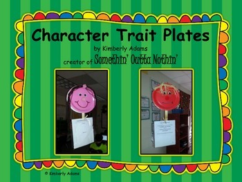 Character Trait Plates