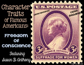 Susan B. Anthony Featuring Freedom of Conscience Passages
