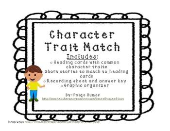 Character Trait Story Match