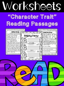 Character Trait's Reading Passages w/Questions