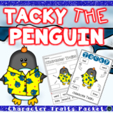 Tacky the Penguin Character Trait Activities & Word Wall Cards