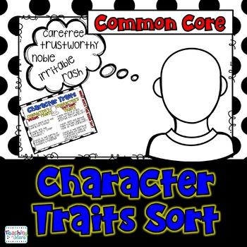 Character Traits: A Reading Character Traits Freebie Sort
