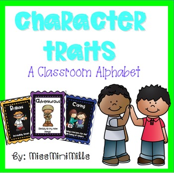 Character Traits: An Alphabet- with Black and White Background