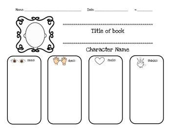 Character Traits/Personal Narrative Graphic Organizer