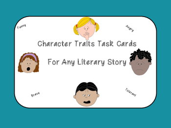 Character Traits Task Cards (for any book)