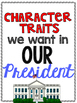 Character Traits We Want in Our President - Writing Activity
