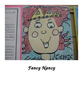 Character Traits Writing Activity Starring Fancy Nancy and
