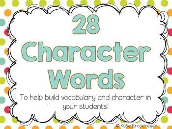 Character Words {Polka Dot Style}