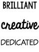 Character Words Bulletin Board