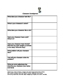 Character and Plot Development Graphic Organizer