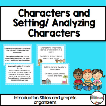 Character / Setting & Analyzing Characters {Minilessons an