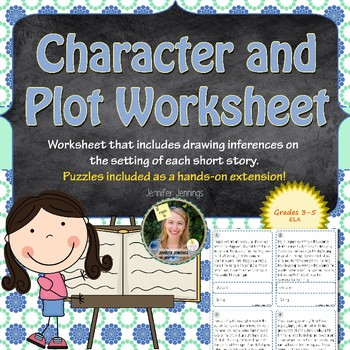 Character and Setting Worksheet and Puzzles