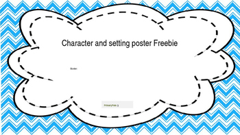 Character and setting poster freebie