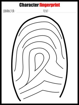 Character fingerprint