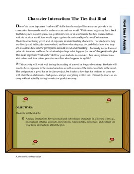 Character interaction analysis