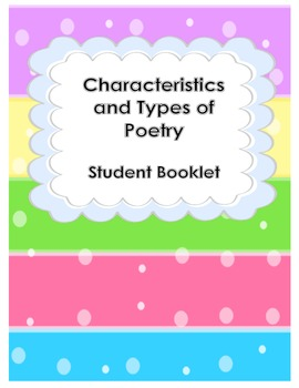 Characteristics and Types of Poetry Student Flipbook