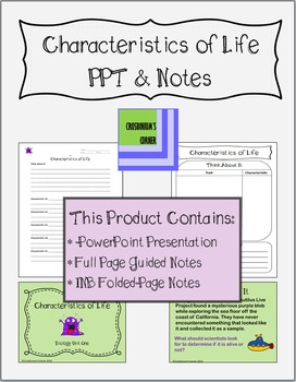 Characteristics of Life PowerPoint with Notes