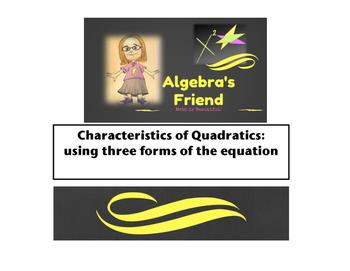 Characteristics of Quadratics-3 Forms of Equations (Standa