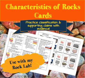 Characteristics of Rocks Cards