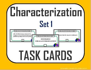 Characterization Task Cards Set 1 (Direct / Indirect Chara