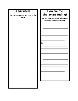 Character's Feelings-Common Core