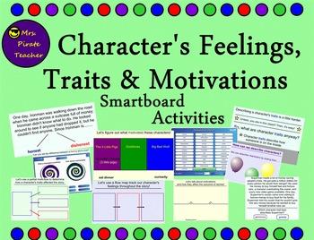 Character's Feelings, Traits, and Motivations Smartboard L