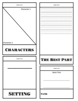 Characters and Setting Flip Book