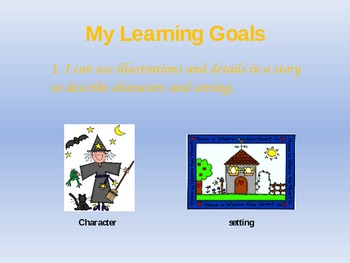Characters and Setting Interactive Powerpoint