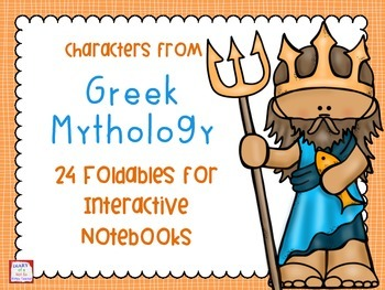 Characters from Greek Mythology Interactive Notebook