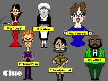Characters from the Game Clue: A Collection of Clip Art