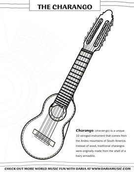 Charango Instrument Coloring Page
