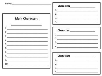 Charcter & Setting-For Any Novel