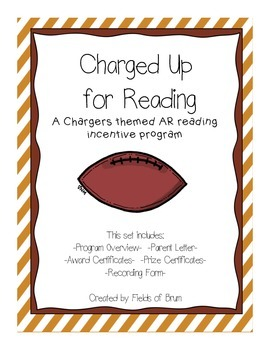 """AR Reading Incentive Program """"Charged Up for Reading"""""""