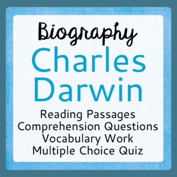 Charles Darwin Biography Informational Texts Activities