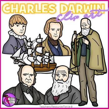 Charles Darwin clip art