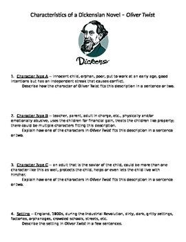 Charles Dickens -- Characteristics of a Dickensian novel (
