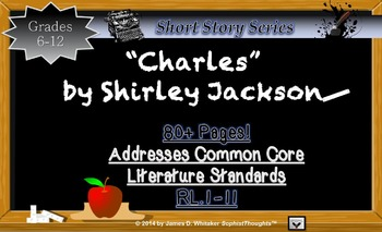 Charles by Shirley Jackson Short Story Unit Common Core Li